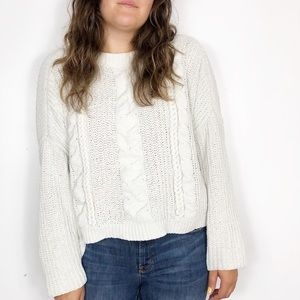 UNIVERSAL THREAD Gray Chunky Chenille Knit Sweater